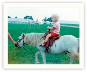 Photo of me on my first pony ride