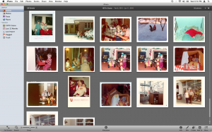 Apple iPhoto Photos in Event View