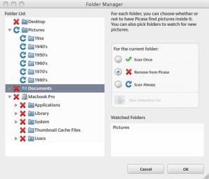 Google Picasa Folder Manager