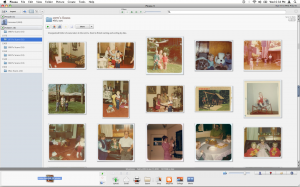 My scanned photo collection in Google's Picasa (v3.8 for Mac)