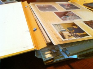 "One of my Family's ""Magnetic"" Style of Photo Albums - Falling Apart!"
