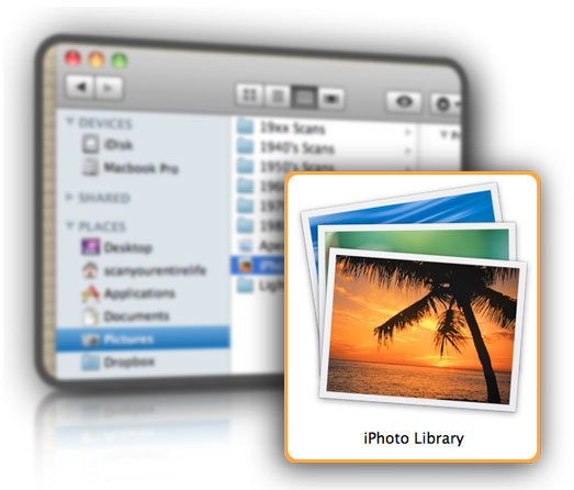 iPhoto Library Folder and icon