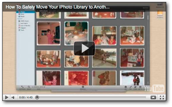 How To Safely Move Your iPhoto Library to Another Hard Drive (Video Tutorial)