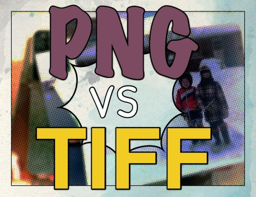 PNG vs TIFF graphic in comic book style