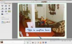 Picasa in Edit View entering in a caption