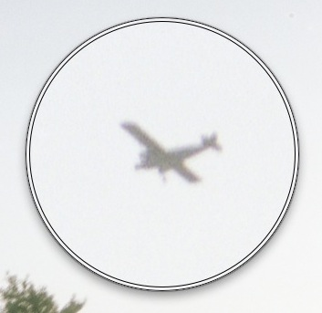 Scan Negative vs Print - Airplane Magnified