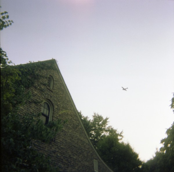 Scanning Negative vs Print - House with Plane flying overhead
