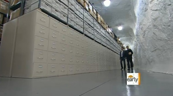 Corbis Iron Mountain Cold Storage Facility - Huge wall of storage drawers