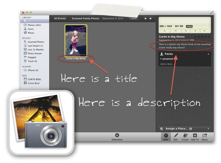 How to Get Your Photos Out of iPhoto With Your Titles and Descriptions Intact