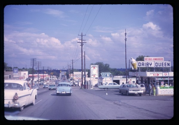 Road in 1963 with Vintage Dairy Queen