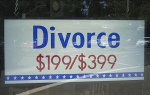 Divorce for $199/$399 in window