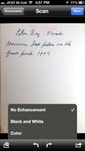 Genius Scan choose enhancements