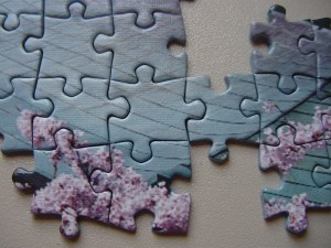 Partially put together Jigsaw puzzle