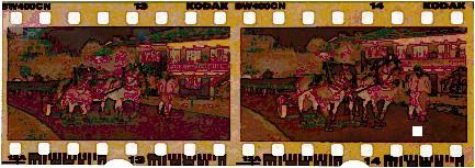 Kodak BW400CN Chromogenic Film Strip