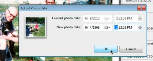 Adjusting date and time of a photo in Picasa