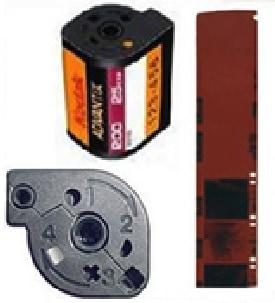 Sample Kodak APS Film Cartridge and Negatives