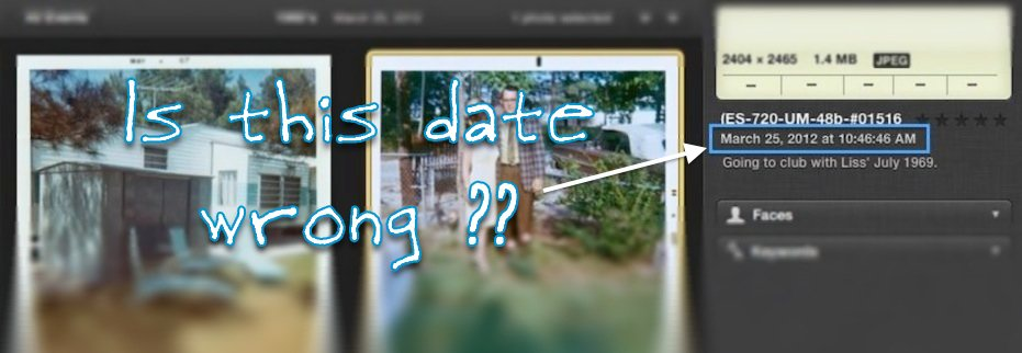 How to Change a Photo's Date in iPhoto to When the Photo Was Taken
