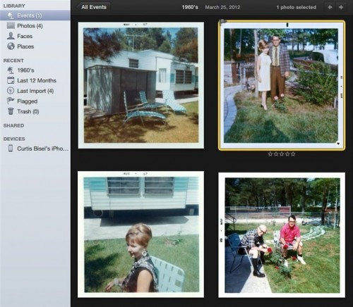 selected photo in iPhoto