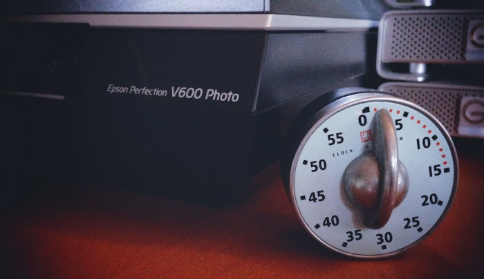 Photo Scanner with Clock Timer