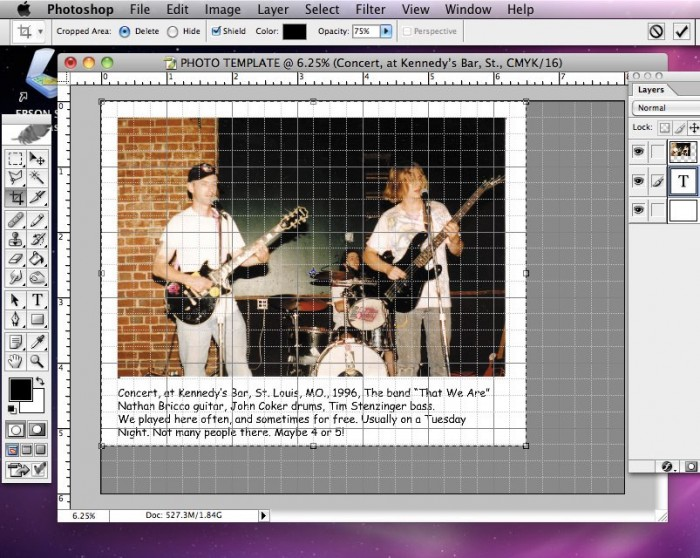 Cropping and Saving Photo in Photoshop