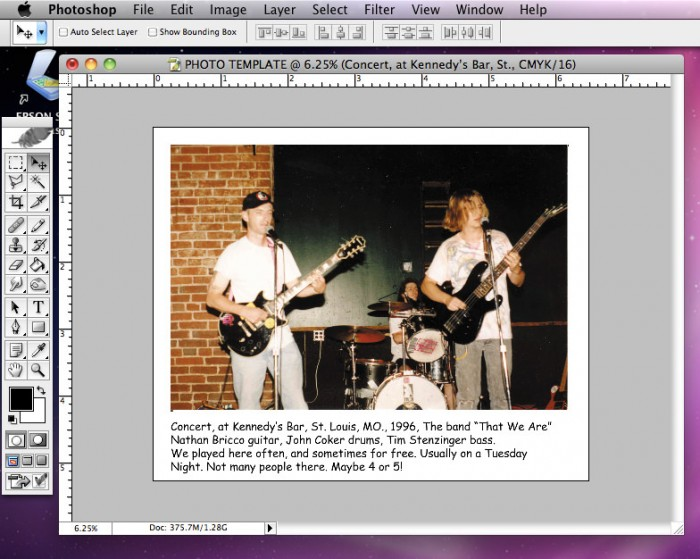 Flattening and Saving Photo as Tiff in Photoshop