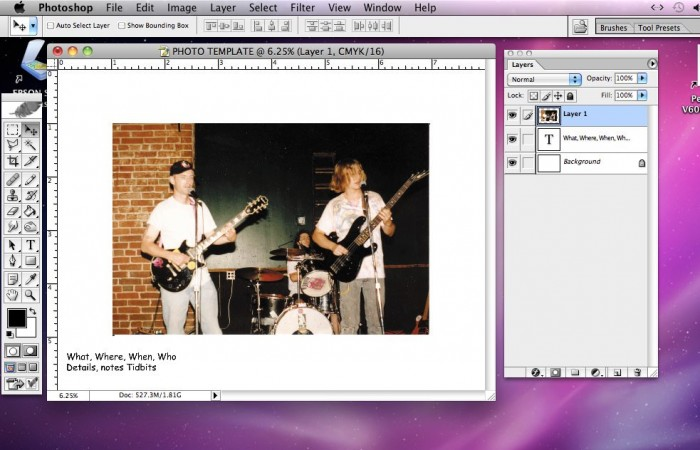 Pasting a Photo in Photoshop