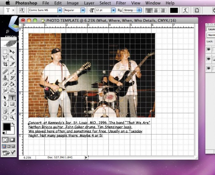 Replacing Placeholder text with photo caption in Photoshop