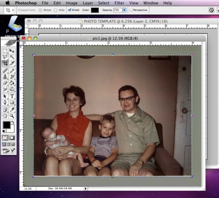 Selecting and Copying Photo in Photoshop