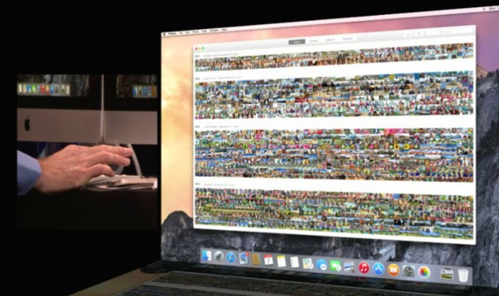 Federighi showing off how you can easily navigate through an entire life of photos using Collections, Moments and Year views in Photos for Mac (during the 2014 WWDC keynote presentation)