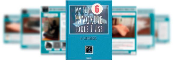 """Cover art and inside pages to PDF Guide """"My Top 6 Favorite Tools I Use"""""""