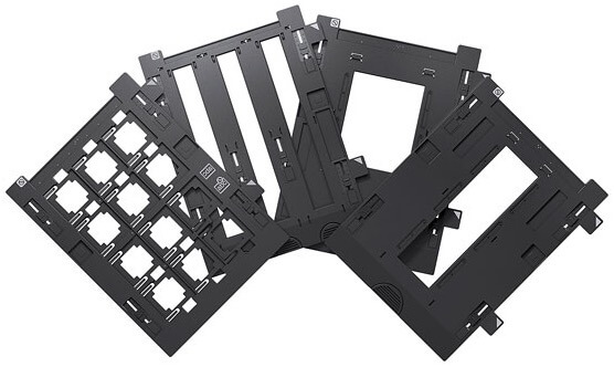 Epson Perfection V800 flatbed series empty film holders spread out