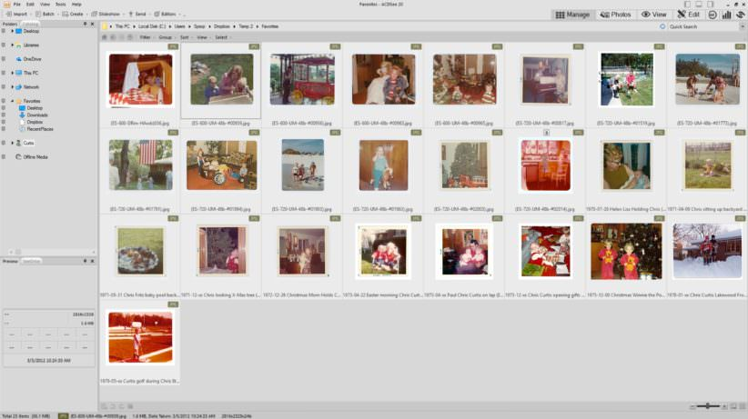 Wall of image thumbnails - ACDSee 20 - Photo Manager