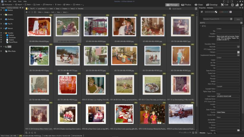 Wall of image thumbnails - ACDSee Ultimate - Photo Manager