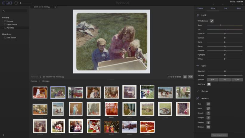 Wall of image thumbnails - Picktorial - Photo Manager