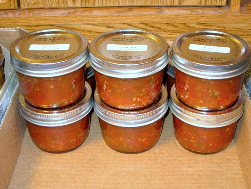 6 jars of mild salsa boxed