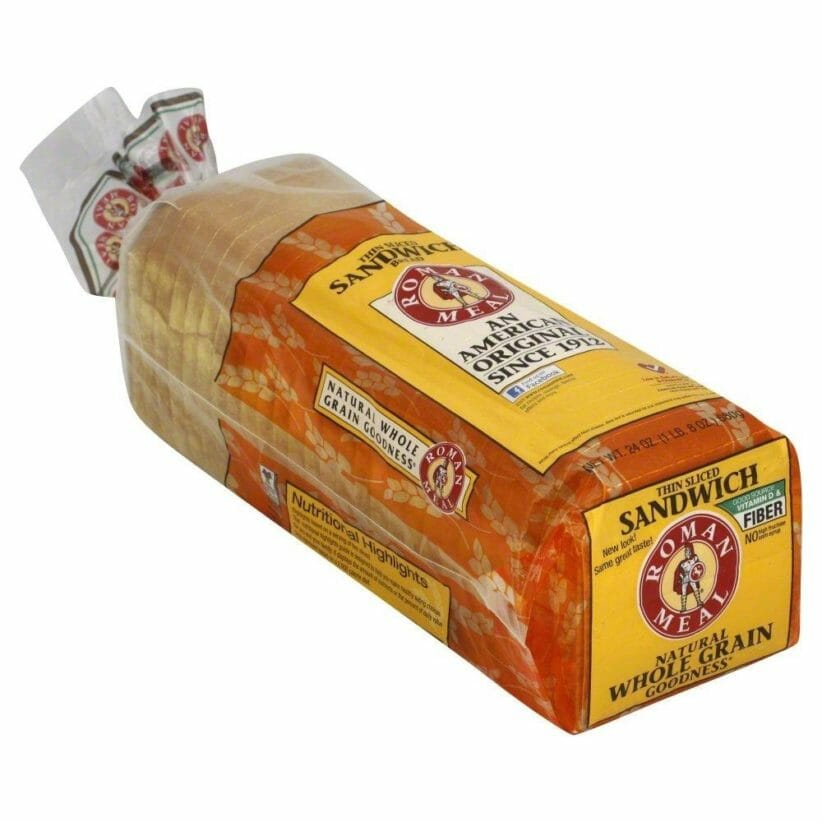 Roman Meal packaged bread loaf